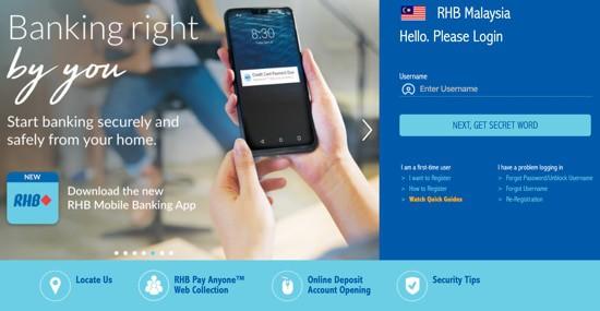 login rhb now online banking