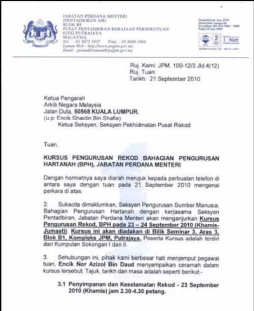 surat rasmi aduan