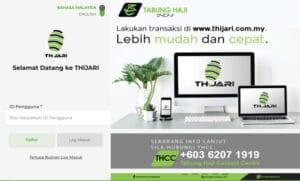 tabung haji online thijari